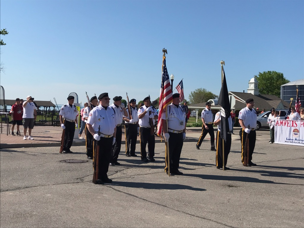 The Color Guard line up to begin the parade.